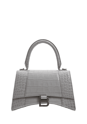 Smal Hourglass Embossed Leather Bag
