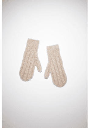 Acne Studios FN-UX-ACCS000029 Biscuit beige  Cable knit mittens