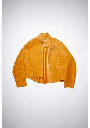 Acne Studios FN-WN-LEAT000155 Mustard yellow  Relaxed suede jacket