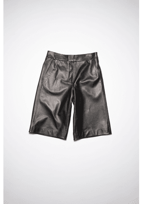 Acne Studios FN-WN-SHOR000049 Black  Lined leather shorts