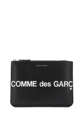 Huge Logo Leather Pouch