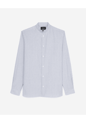 The Kooples - Blue and white officer-collar shirt - MEN