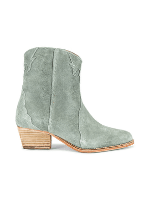 Free People New Frontier Western Boot in Baby Blue. Size 38, 39.