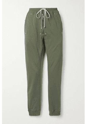 Rick Owens - Shell-trimmed Organic Cotton-jersey Track Pants - Green