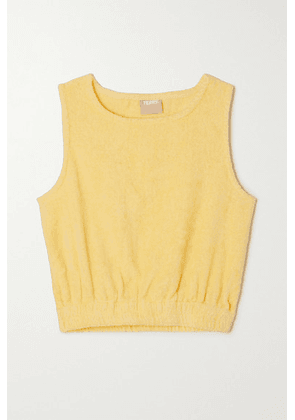 TERRY - Isola Cotton-terry Top - Yellow