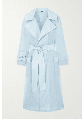 MCQ - Breathe Belted Ripstop Trench Coat - Blue