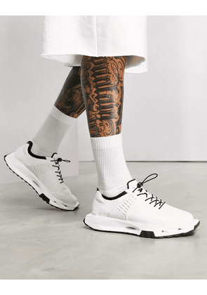 ASOS DESIGN trainers with angular sole in white