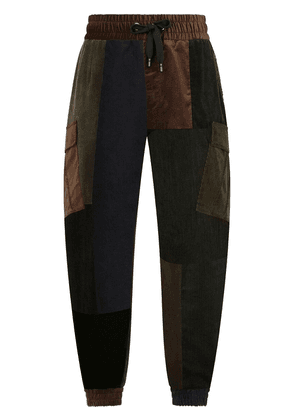 Dolce & Gabbana tapered patchwork trousers - Black