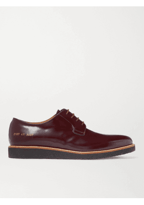 Common Projects - Polished-Leather Derby Shoes - Men - Burgundy - 38