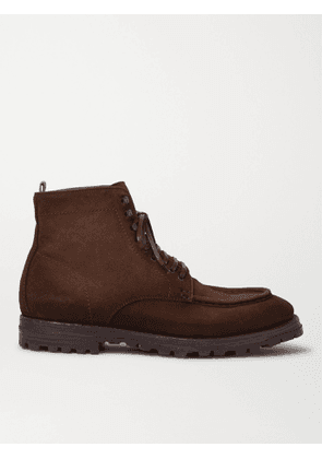 Officine Creative - Vail Burnished-Leather Lace-Up Boots - Men - Brown - EU 43