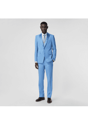 Burberry Classic Fit Wool Tailored Trousers, Blue