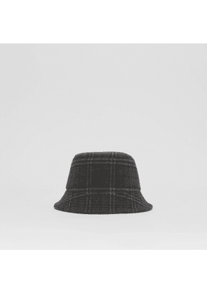 Burberry Check Wool Cashmere Bucket Hat