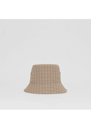 Burberry Check Technical Cotton Bucket Hat