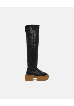 Stella McCartney - Over-The-Knee Emilie Teddy Boots, Woman, Black, Size: 34