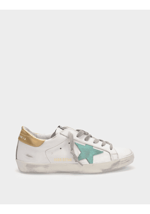 Golden Goose Deluxe Brand Super-Star Sneakers in White/Multicolored Leather