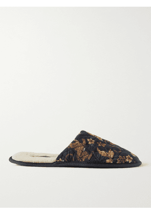Desmond & Dempsey - Printed Quilted Cotton Slippers - Men - Multi - 40-41