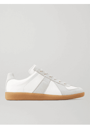 Maison Margiela - Replica Leather and Suede Sneakers - Men - White - 40