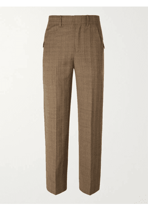 Ader Error - Prince of Wales Checked Wool Suit Trousers - Men - Brown - 3