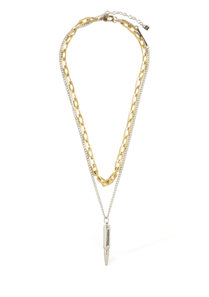 Talisman Double Two Tone Chain Necklace