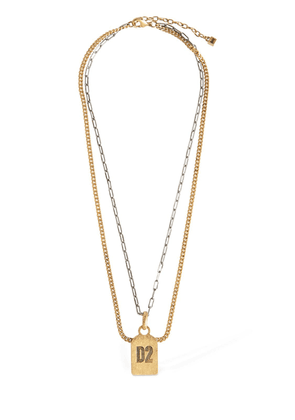 D2 Double Two Tone Chain Necklace