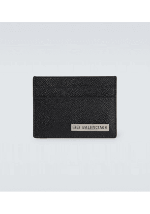 Grained leather cardholder