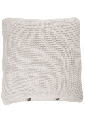 Sequined cashmere and silk cushion