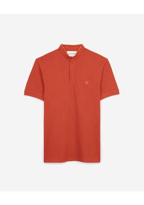 The Kooples - Orange polo with clementine details - MEN