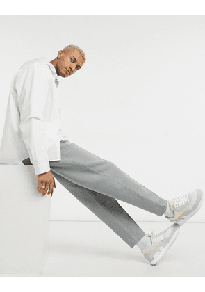 ASOS DESIGN smart co-ord heavyweight tapered joggers with pin tucks & fixed hem in grey