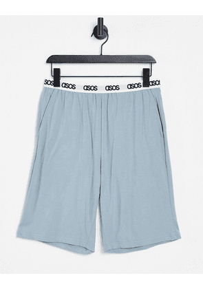ASOS DESIGN lounge short in grey with branded waistband