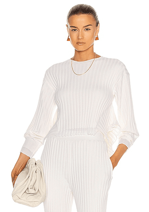 Stella McCartney Crew Neck Sweater in Ivory - White. Size 40 (also in 36).