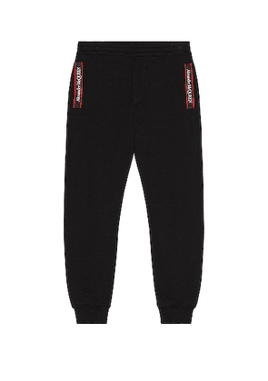 Alexander McQueen Jogger Pant in Black - Black. Size L (also in M, S, XL).
