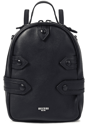 Moschino Leather Backpack Woman Black Size --
