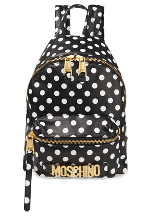 Moschino Polka-dot Leather Backpack Woman Black Size --