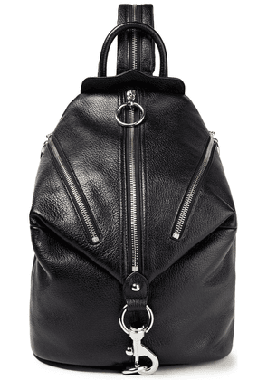 Rebecca Minkoff Easy Rider Julian Textured-leather Backpack Woman Black Size --