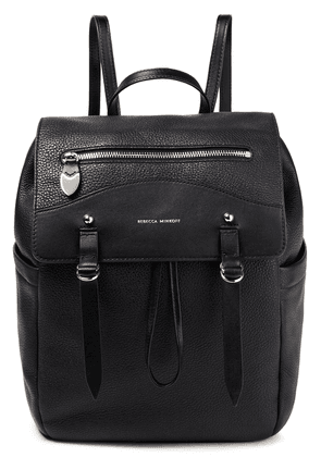 Rebecca Minkoff Textured-leather Backpack Woman Black Size --