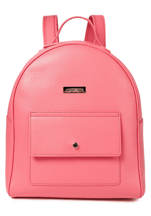 Sergio Rossi Pebbled-leather Backpack Woman Pink Size --