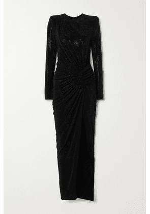 Alexandre Vauthier - Gathered Crystal-embellished Stretch-jersey Gown - Black