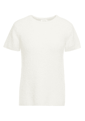 American Vintage Brushed Ribbed Organic Cotton-blend Top Woman Off-white Size S