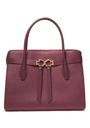 Kate Spade New York Pebbled-leather Tote Woman Merlot Size --