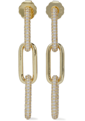 Cz By Kenneth Jay Lane Gold-tone Crystal Earrings Woman Gold Size --