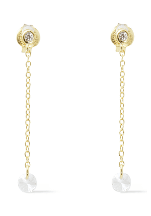 Shashi 18-karat Gold-plated Sterling Silver Crystal Earrings Woman Gold Size --