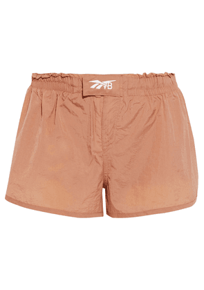 Reebok X Victoria Beckham Snap-detailed Crinkled-shell Shorts Woman Antique rose Size S