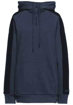 Reebok X Victoria Beckham French Cotton-terry Hoodie Woman Navy Size S