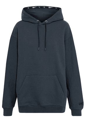 Reebok X Victoria Beckham Oversized French Cotton-terry Hoodie Woman Midnight blue Size S