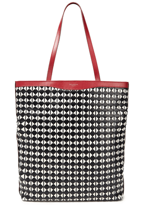 Serapian Mosaico Leather Tote Woman Red Size --