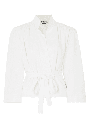 Àcheval Pampa Lucero Belted Stretch-twill Coat Woman White Size L