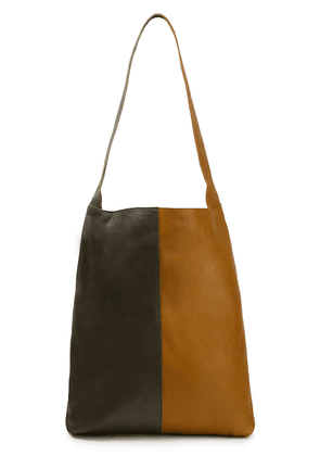 Gestuz Two-tone Leather Tote Woman Army green Size --