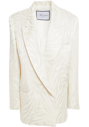 Redemption Double-breasted Cotton-blend Jacquard Blazer Woman Ivory Size 42