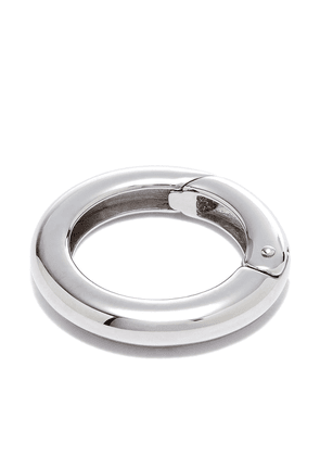 Foundrae 18K white gold Chubby Annex link charm - Silver