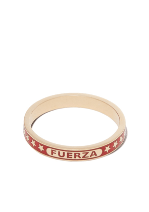 Foundrae 18K yellow gold Strength ring